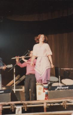 Chris Sheppard clog dancing at Fairport Convention's Farewell Festival, August 1979