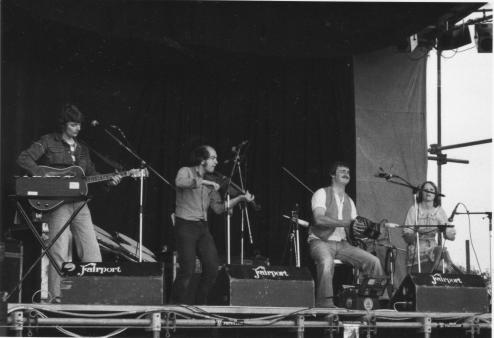 The Rollright Stones in full flow: Cropredy, August 1979. Photo by the Banbury Guardian